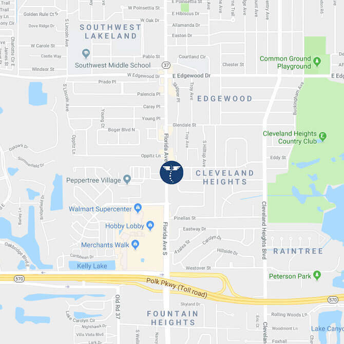 Lakeland-Chiropractor-Lakeland-Spine-Center-3242-South-Florida-Ave-Map